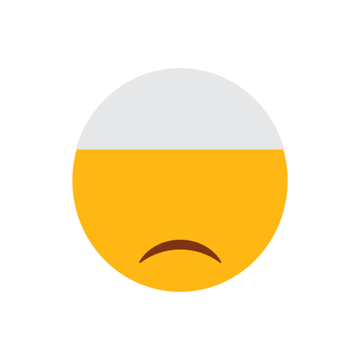 dissapointed face, emoji, face, islam, muslim, sad face icon