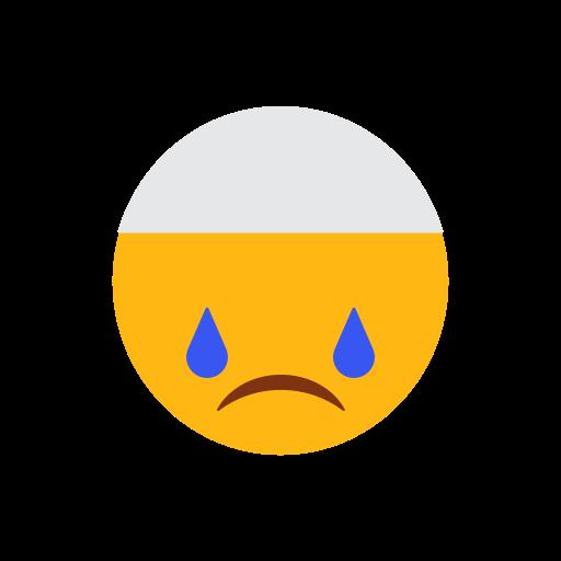 cap, crying face, emoji, face, islam, muslim icon