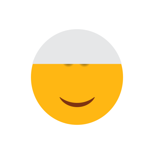 emoji, face, islam, muslim, smilling face icon