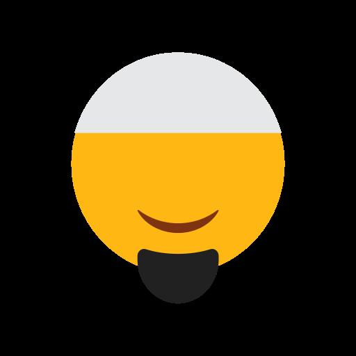 beard, cap, emoji, face, islam, muslim, smilling face icon