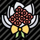 bouquet, bridal, decoration, flower, holding icon