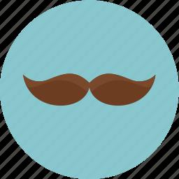cartoon, face, hair, mustache icon