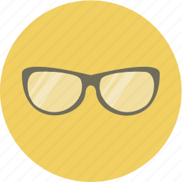 face, glasses, sun, view icon