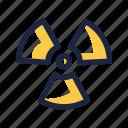 nuclear, nuke, radiation, radioactive icon