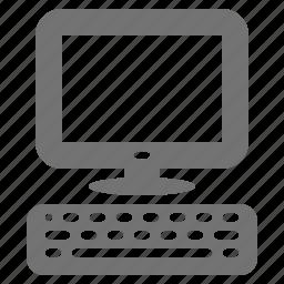 computer, desktop, display, keyboard, monitor, pc, system icon