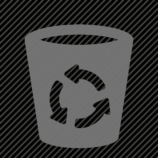 bin, can, delete, empty, litter, recycle, trash icon