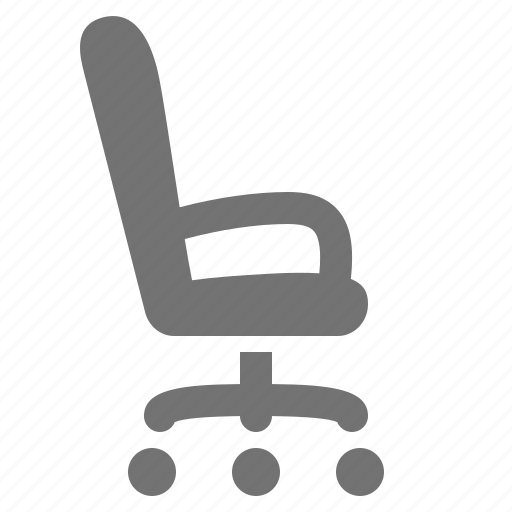 chair, desk chair, job, office, seat, side icon