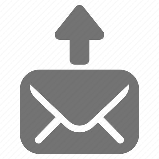 arrow, communication, mail, message, outbox, send, up icon