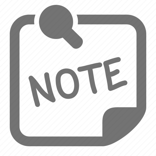 memo, note, office, paper, pin, post it, reminder icon