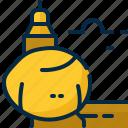 buddhism, kyaiktiyo, landmark, myanmar, pagoda icon