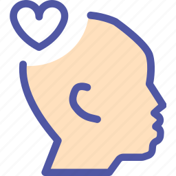 compassion, empathy, feeling, heart, myers briggs, tactful icon