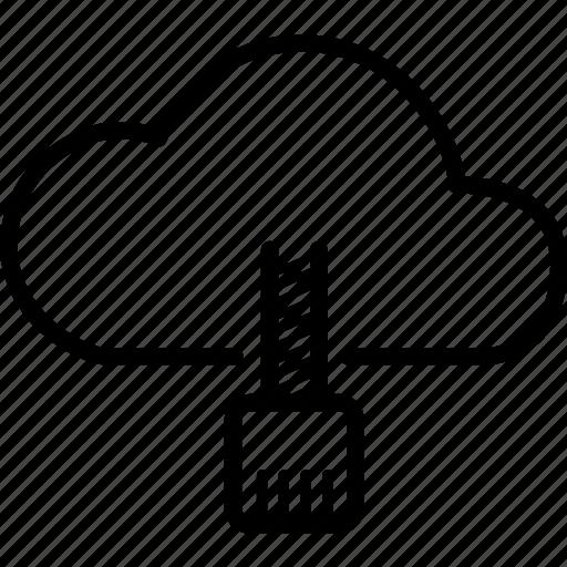 cloud, computing, data, forecast, network, startup, storage icon