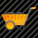 cart, coal, construction, person, wheelbarrow