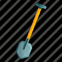 business, construction, shovel, winter