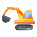 bulldozer, construction, excavator, technology