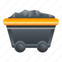 cart, coal, technology, vintage, wagon