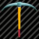 axe, construction, hand, mine, pick
