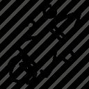 isolated, rocket, thin, vector, yul930 icon