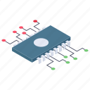 central processing unit, computer chip, cpu, microchip, microprocessor icon