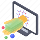 molecular science, nano, nanoscience, nanotech, nanotechnology icon