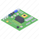 circuit board, hardware, mainboard, microelectronics, motherboard icon
