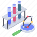 chemical research, lab research, laboratory equipment, laboratory sample, laboratory test icon