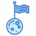 earth, flag, planet, space icon