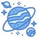 astronomy, galaxy, planet, space icon