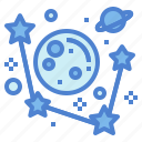 astronomy, galaxy, planets, universe icon