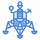 lander, spaceship, transportation, vehicle icon