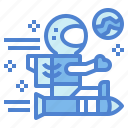 astronaut, nasa, planet, rocket icon