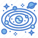 astronomy, galaxy, orbit, universe icon
