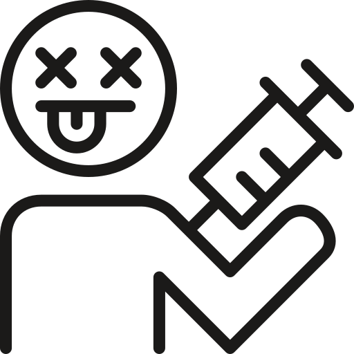 drugs, injection icon