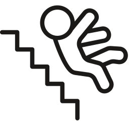 down, falling, stairs icon