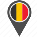 belgium, country, geo, location, pointer icon