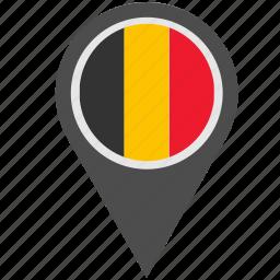 belgium, country, geo, location, pointer icon