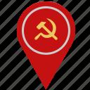 communism, country, geo, location, pointer