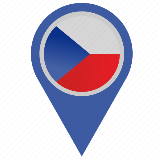 country, czech, geo, location, pointer, republic icon