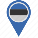 country, estonia, geo, location, pointer icon