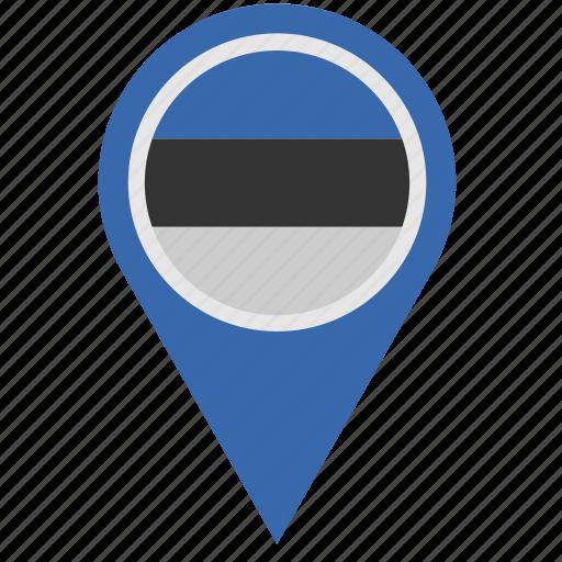 country, estonia, geo, location, pointer icon