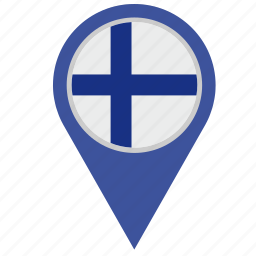 country, finland, geo, location, pointer icon