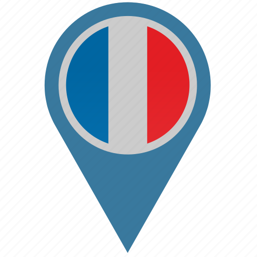 country, france, geo, location, pointer icon