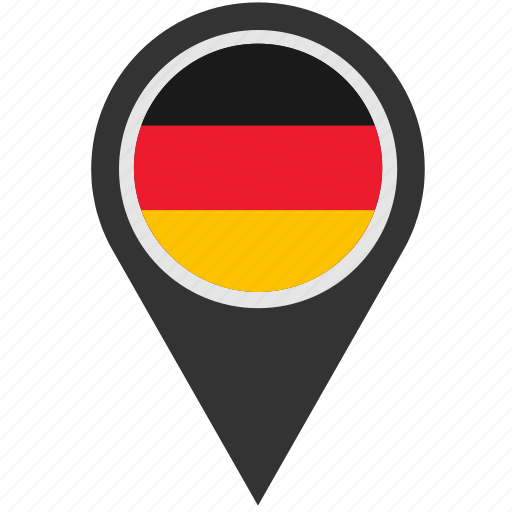 country, geo, germany, location, pointer icon