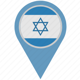 country, geo, israel, location, pointer icon