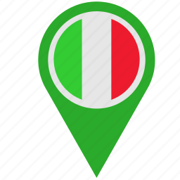 country, geo, italy, location, pointer icon