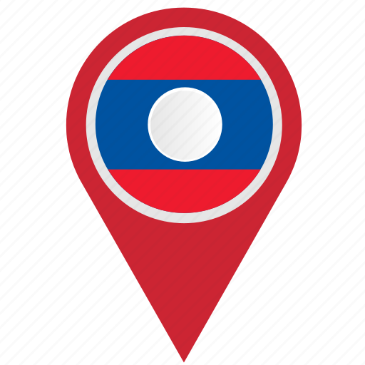 country, geo, laos, location, pointer icon