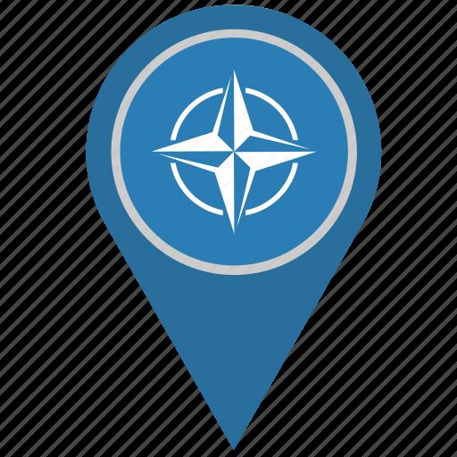 country, geo, location, nato, pointer, union icon