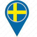 country, geo, location, pointer, scandinavia, sweden icon