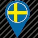 country, geo, location, pointer, scandinavia, sweden icon