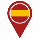 country, espana, geo, location, pointer, spain icon